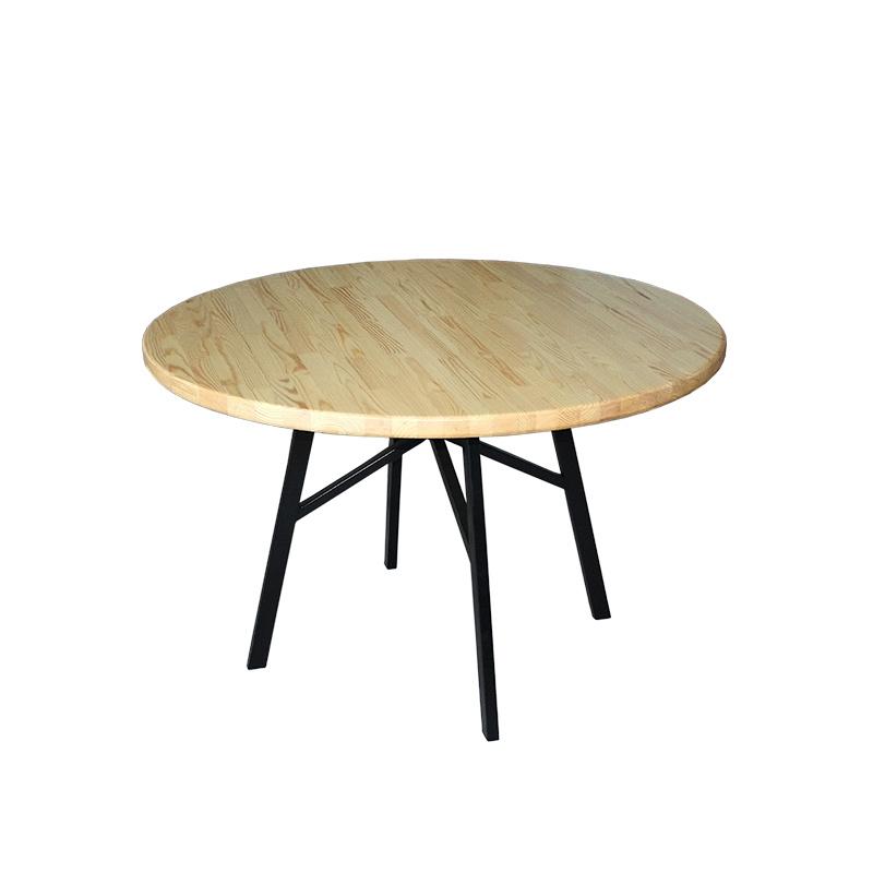 Стол обеденный круглый, лак