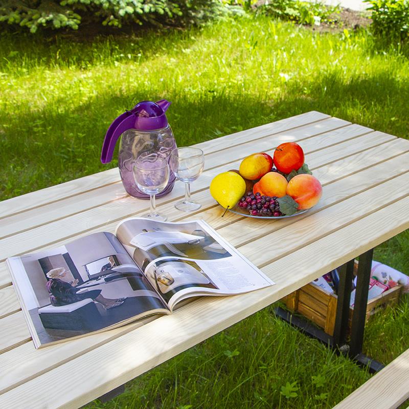 Стол садовый разборный без покрытия