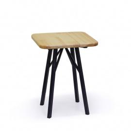 Табурет с квадратным сиденьем, лак